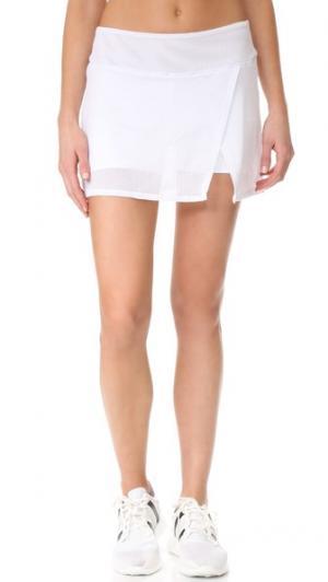 Юбка-шорты с сетчатой тканью PRISMSPORT. Цвет: белый
