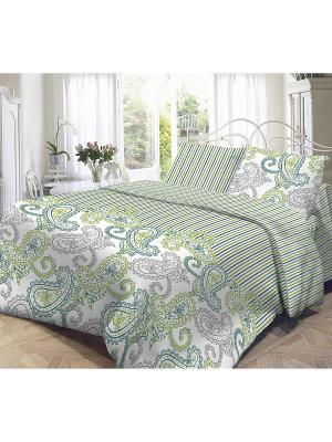 Комплект постельного белья, Оливия Волшебная ночь. Цвет: зеленый