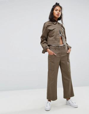 Calvin Klein Широкие кюлоты Jeans. Цвет: зеленый