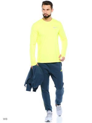 Лонгслив M NK DRY MILER TOP LS Nike. Цвет: желтый
