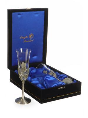 Подарочный набор  бокалов Груздья Винограда Eagle Pewter. Цвет: серебристый