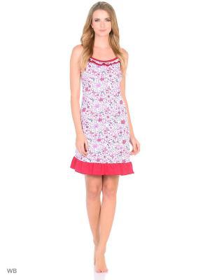 Ночная сорочка HomeLike. Цвет: синий, розовый, белый