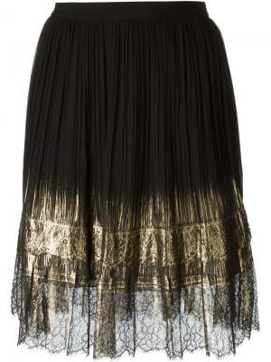Плиссированная юбка Alberta Ferretti. Цвет: чёрный