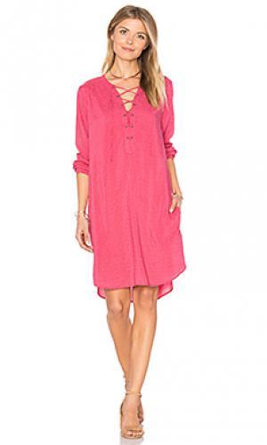 Платье со шнуровкой zoey Velvet by Graham & Spencer. Цвет: розовый