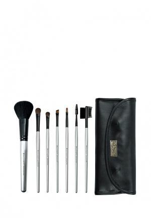 Набор кистей для макияжа Royal&Langnickel. Цвет: серебряный