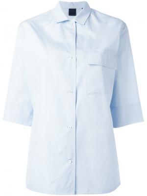 Рубашка с рукавами три четверти Aspesi. Цвет: синий