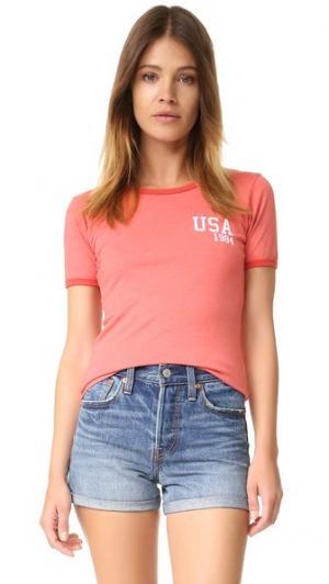 Футболка USA Prince Peter. Цвет: винтажный красный