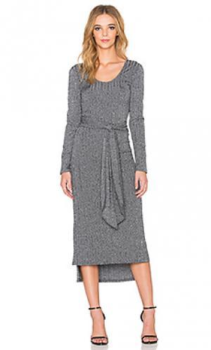 Платье с длинным рукавом parker Otis & Maclain. Цвет: уголь