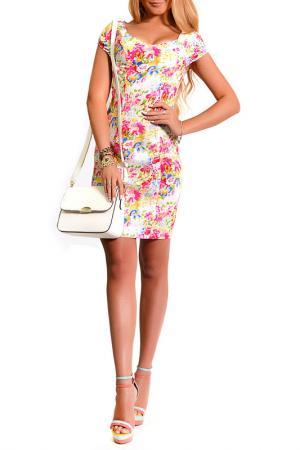 Платье LASKANY collezioni. Цвет: нежный