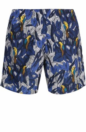 Плавки-шорты с принтом Z Zegna. Цвет: синий
