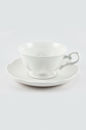Набор 6 чайных пар 180мл Royal Bone China. Цвет: белый