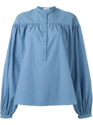Свободная блузка в крестьянском стиле Tomas Maier. Цвет: синий