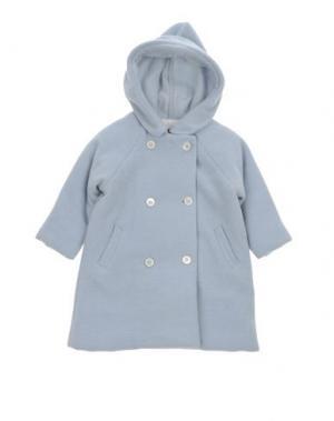 Пальто LA STUPENDERIA. Цвет: небесно-голубой
