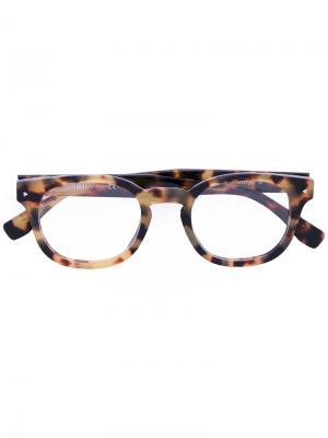 Очки в квадратной оправе Fendi Eyewear. Цвет: жёлтый и оранжевый