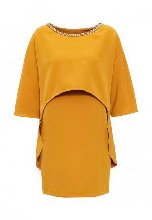 Платье Atos Lombardini. Цвет: желтый