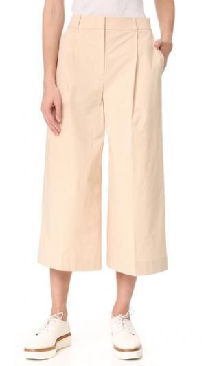 Широкие укороченные брюки Phyllis JENNY PARK. Цвет: светло-песочный