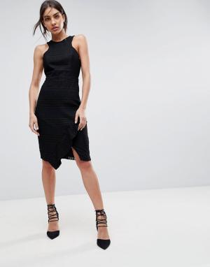 Adelyn Rae Кружевное платье-футляр Bianca. Цвет: черный