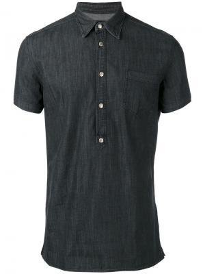 Джинсовая рубашка-поло Hydrogen. Цвет: серый