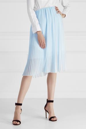Плиссированная юбка Cyrille Gassiline. Цвет: голубой