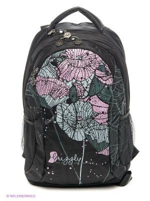 Рюкзак Grizzly. Цвет: черный, бледно-розовый