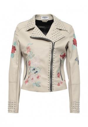 Куртка кожаная Glamorous. Цвет: бежевый