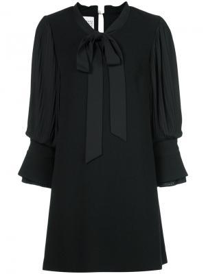 Платье-рубашка с завязками на шее Edward Achour Paris. Цвет: чёрный