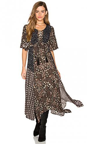 Платье с цветочной мозаикой Ella Moss. Цвет: черный