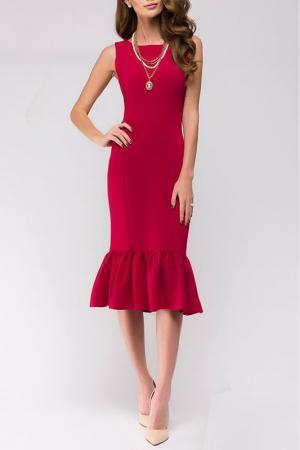 Приталенное платье без рукавов ANASTASIA KOVALL. Цвет: розовый
