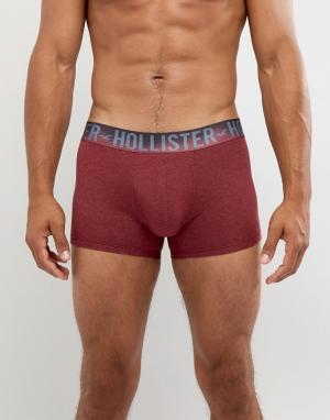 Hollister Серо-бордовые боксеры-брифы. Цвет: красный