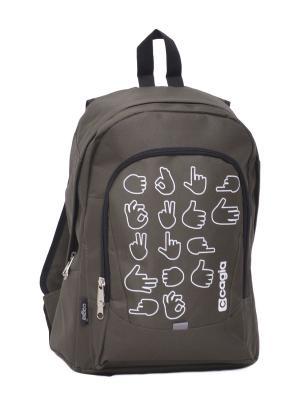 Ранец ученический для средних и старших классов 465710 CAGIA. Цвет: коричневый