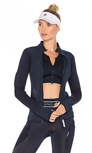 Спортивная кофта на молнии adidas by Stella McCartney. Цвет: синий