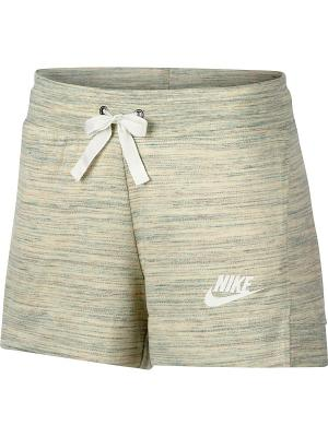 Шорты W NSW GYM CLC SHORT Nike. Цвет: белый