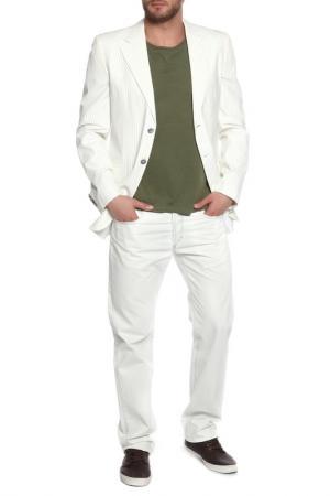 Пиджак Moschino. Цвет: молочный, серая полоска