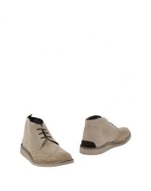 Полусапоги и высокие ботинки ANGELO NARDELLI. Цвет: светло-серый