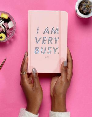 BAN DO Органайзер с надписью I Am Very Busy и голографичексим эффектом Ban.Do. Цвет: мульти