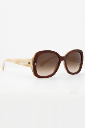 Очки солнцезащитные Lanvin. Цвет: бежевый