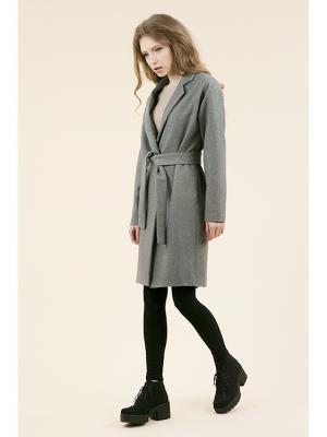 Пальто-кокон (Шерлок) MONOROOM. Цвет: серый