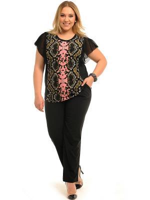 Блузка SVESTA. Цвет: черный, розовый
