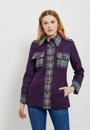 Куртка утепленная Artwizard. Цвет: фиолетовый