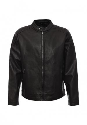 Куртка кожаная Burton Menswear London. Цвет: коричневый