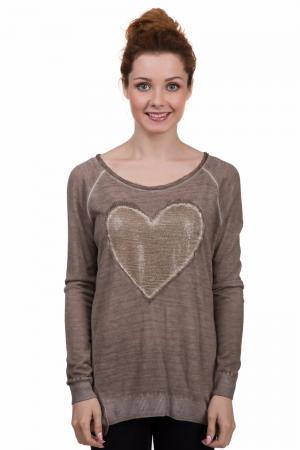 Пуловер Comma. Цвет: коричневый