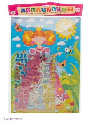 Набор для творчества Блестящая картинка. Принцесса Дрофа-Медиа. Цвет: голубой