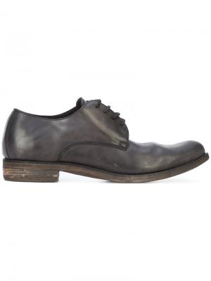Ботинки дерби с эффектом поношенности A Diciannoveventitre. Цвет: чёрный