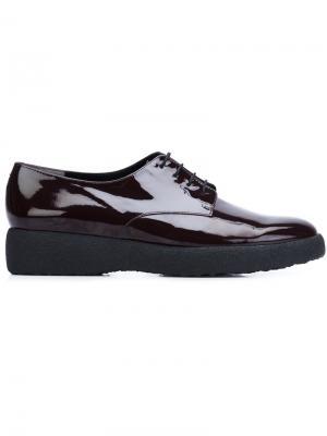 Ботинки на шнуровке Robert Clergerie. Цвет: красный