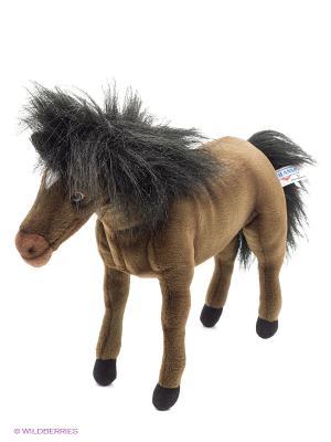 Лошадка гнедая, 37 см Hansa. Цвет: коричневый