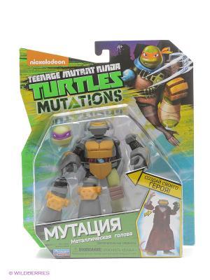 Фигурка Черепашки-ниндзя 12см серия Mutation Металлическая голова Playmates toys. Цвет: темно-серый