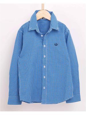 Рубашка INCITY. Цвет: синий, белый