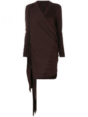 Платье с запахом драпировками Ilaria Nistri. Цвет: красный