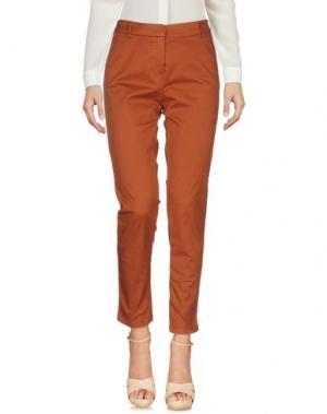 Повседневные брюки KONTATTO. Цвет: ржаво-коричневый