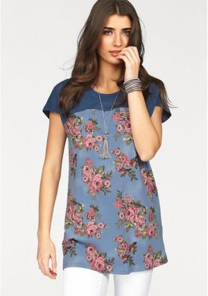 Туника BOYSENS BOYSEN'S. Цвет: синий/розовый с рисунком, хаки/розовый с рисунком